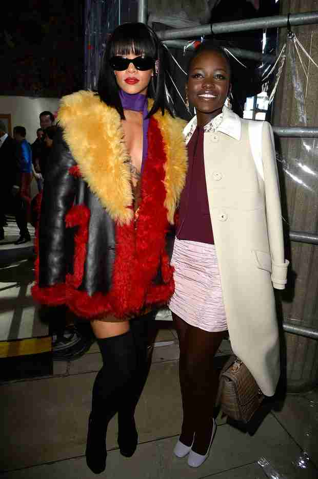 Lupita Nyong'o and Rihanna New Besties? See Their Adorable Fashion Week Pic! (VIDEO)