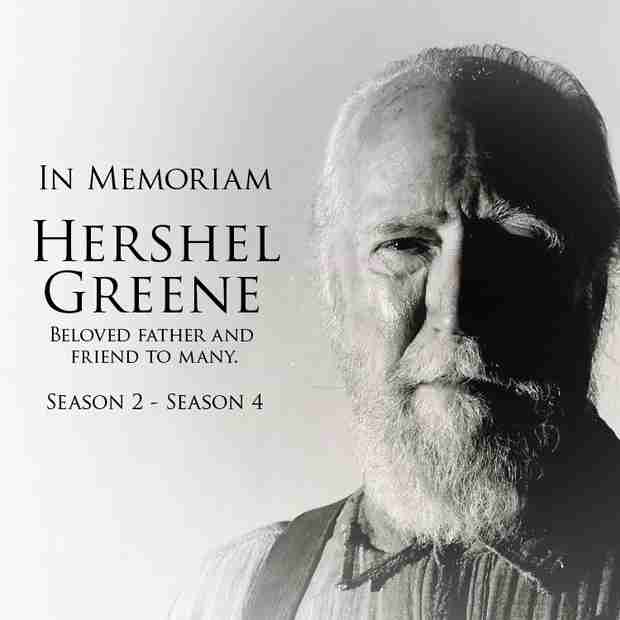 The Walking Dead Season 4: Remembering Hershel Greene (PHOTO)