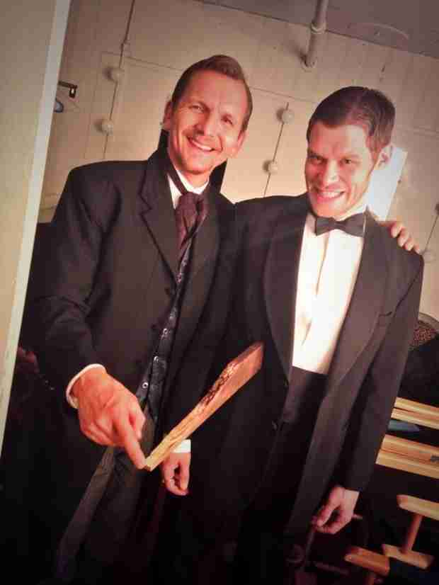 The Originals Flashback: Sebastian Roché and Joseph Morgan Are All Smiles (PHOTO)
