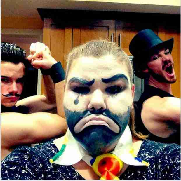 Chris Colfer and Boyfriend Will: See Their Circus Couples Costume (PHOTO)