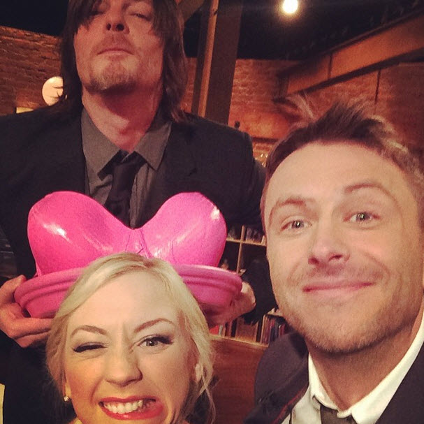Emily Kinney Shares Adorable Behind the Scenes Moment With Norman Reedus (PHOTOS)