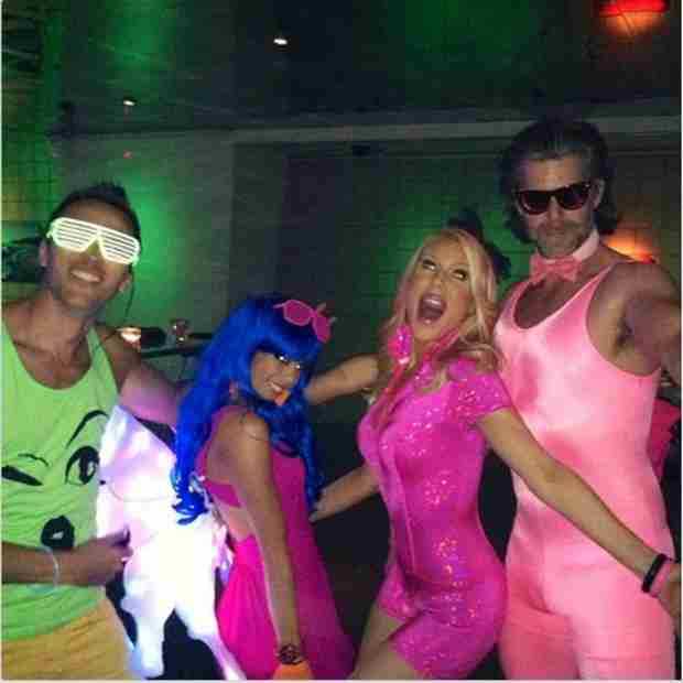 Slade Smiley Wore a Tight Pink One-Piece to Lydia McLaughlin's Birthday Party (PHOTOS)