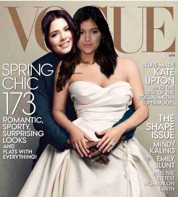 Kendall and Kylie Jenner Parody Kim Kardashian and Kanye West's Vogue Cover
