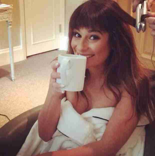 Lea Michele Goes Bra-less — In Nothing But a Towel! (PHOTO)