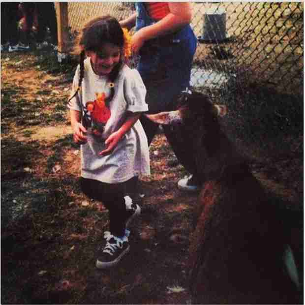 Adorable Lexi Manzo Throwback Pic — With a Goat! (PHOTO)