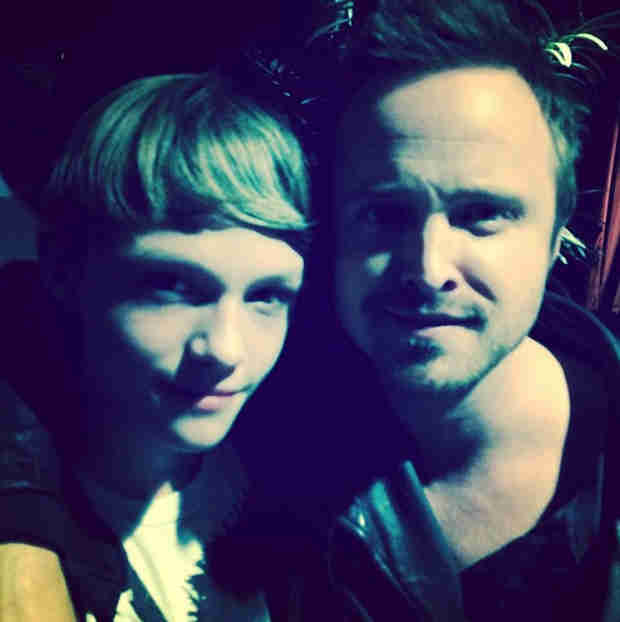 Aaron Paul Snaps a Picture With Norman Reedus' Son Mingus — See What He Looks Like Now! (PHOTO)