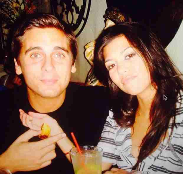 Kourtney Kardashian and Scott Disick's Throwback Photo — See How Young They Look!