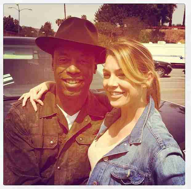 "Grey's Anatomy: Ellen Pompeo Poses With Isaiah Washington, Says It's ""All Good"""
