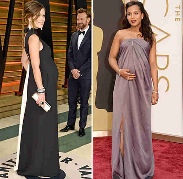 Oscars 2014: Pregnant Kerry Washington vs. Olivia Wilde — Best Baby Bump?