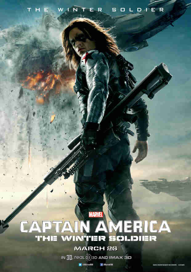 Sebastian Stan Looks Intense on Captain America: The Winter Soldier Poster (PHOTO)