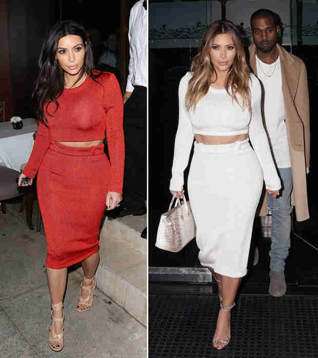 Kim Kardashian Wears the Same Outfit in Different Colors — Which Look Is Best?