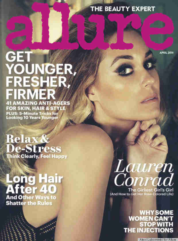 "Lauren Conrad Covers Allure's April 2014 Issue: ""You Have to Represent Yourself Well"""