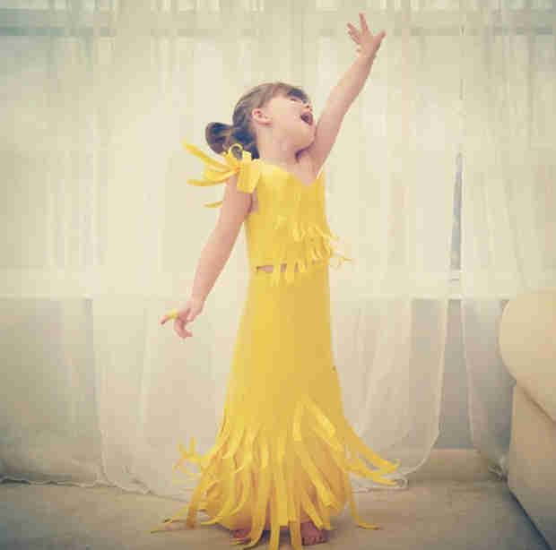Mom and Her 4-Year-Old Create Gowns Out of Paper — You Have to See This! (PHOTO)