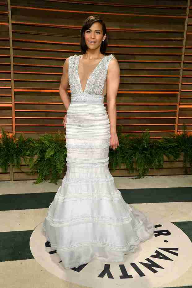 Paula Patton Attends Vanity Fair Oscars Party Solo (PHOTO)