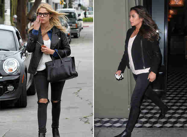 Ashley Benson and Shay Mitchell Go Biker Chic — Who Wore It Best? (PHOTO)