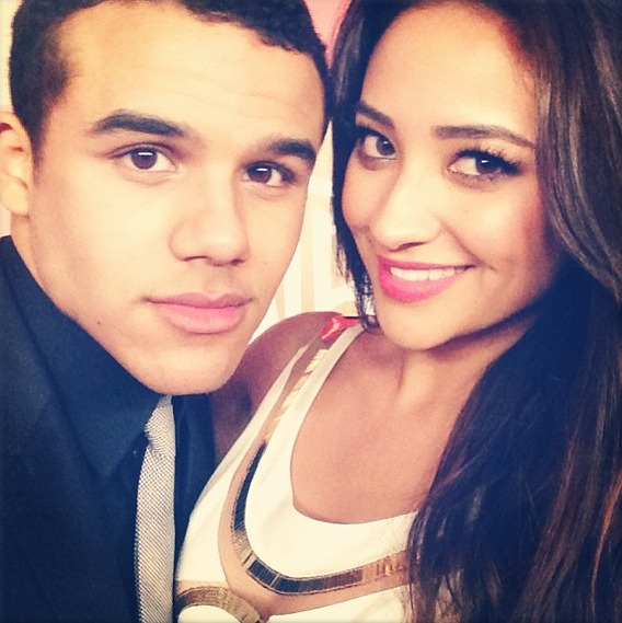 Shay Mitchell Supports Glee Star Jacob Artist in London (PHOTO)