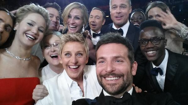 "Jennifer Lawrence on All-Star Oscars Selfie: ""One of Us Should Have Flashed a Boob!"" (VIDEO)"