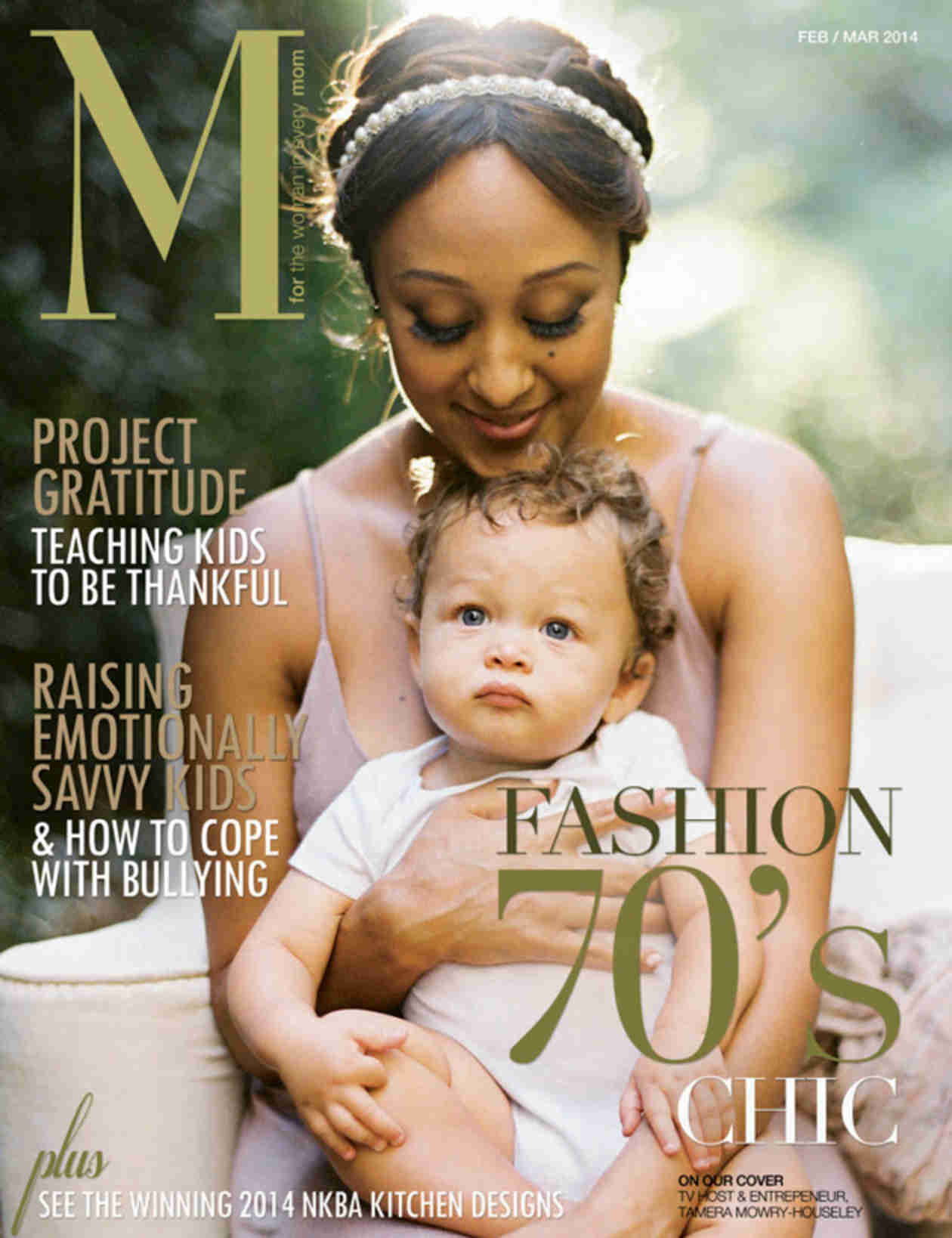 Tamera Mowry Covers M Magazine With Adorable Son Aden (PHOTOS)