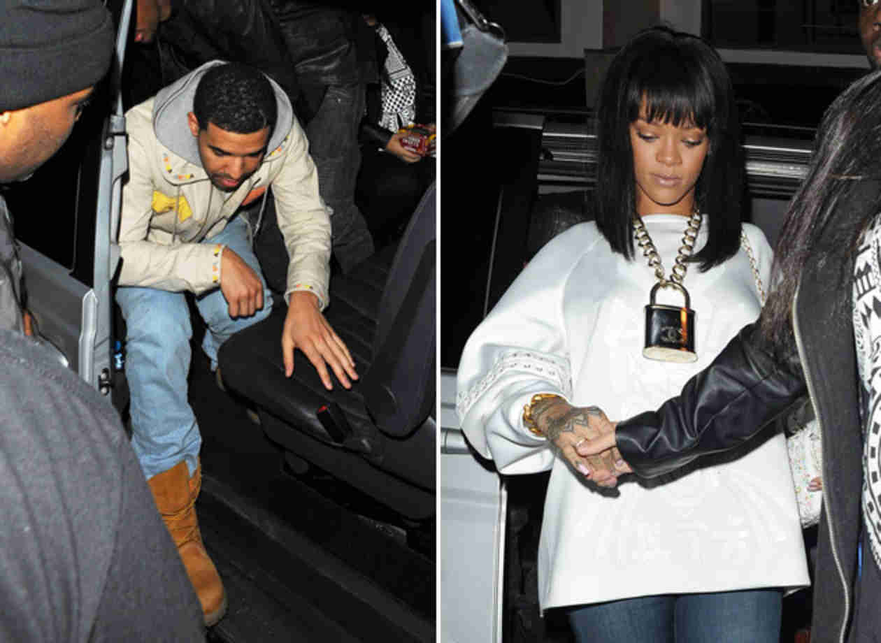 Rihanna and Drake Sneak Out of London Nightclub After Dinner Date (PHOTOS)