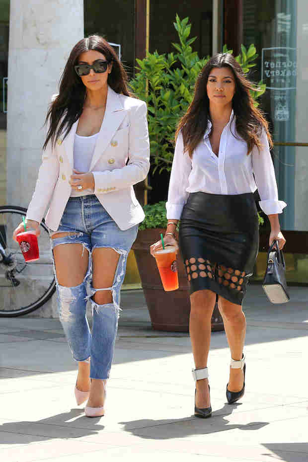 Kim Kardashian Wears Jeans So Ripped They May As Well Be Daisy Dukes (VIDEO)