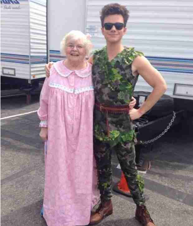 Chris Colfer and June Squibb as Peter Pan and Wendy Darling Is Adorable! (PHOTO)