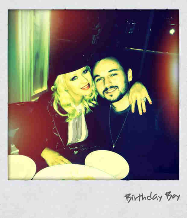 Pregnant Christina Aguilera Posts Adorable Pic With Fiancé Matt Rutler
