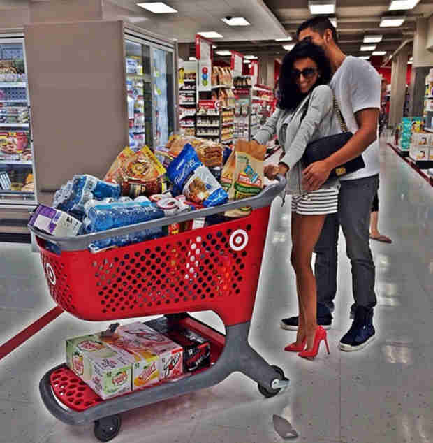 Lilly Ghalichi and Fiancé Show Off PDA While Shopping at Target (PHOTO)