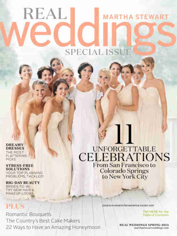 Jennifer Lawrence on Cover of Martha Stewart Weddings — as a Bridesmaid! (VIDEO)