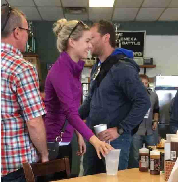 Nikki Ferrell Introduces Juan Pablo Galavis to Her Friends in Kansas City