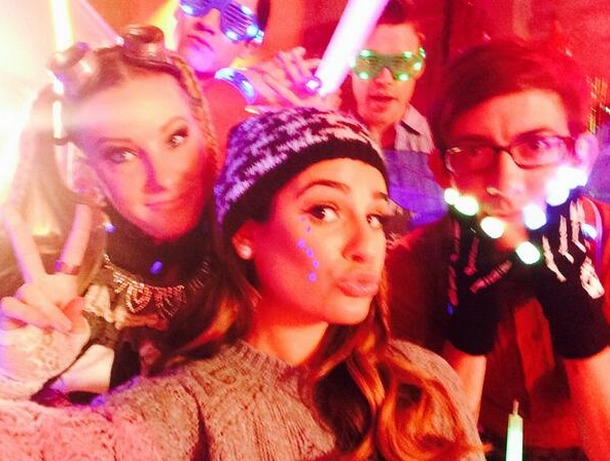 Glee Spoilers: Heather Morris Films Epic Rave Scene With Co-Stars (PHOTO)