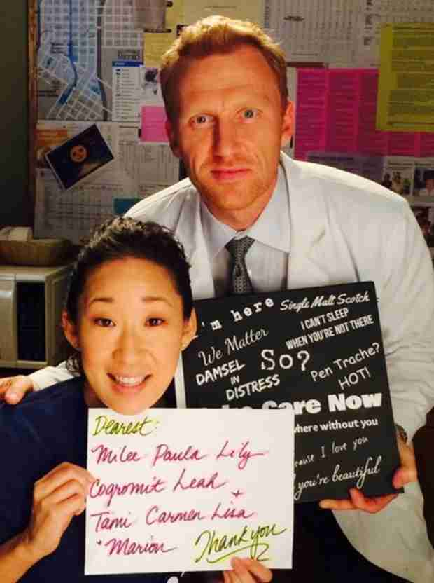 "Grey's Anatomy: Sandra Oh and Kevin McKidd ""So Moved"" by Twitter Fan Gift"