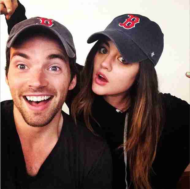 Lucy Hale and Ian Harding Reunite For Pretty Little Liars 100th Episode — And They Match! (PHOTO)