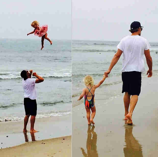 Jessica Simpson and Eric Johnson's Daughter Takes Flight at the Beach (PHOTO)