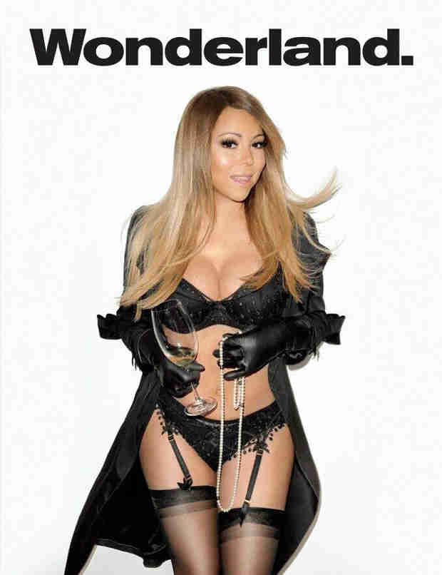 Mariah Carey Wears Black Lingerie and Thigh-Highs on the Cover of Wonderland (VIDEO)