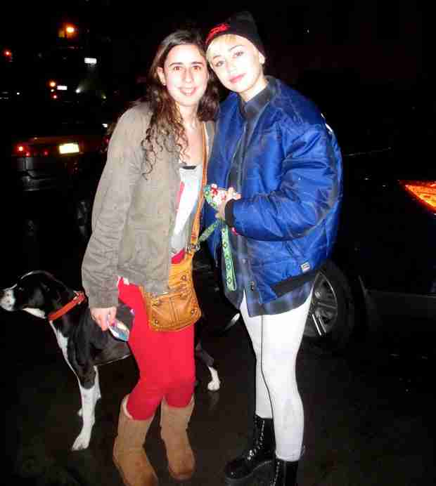 Miley Cyrus Brings Pet Dog Mary Jane to Concert Days After Dog Floyd Passes Away (PHOTO)