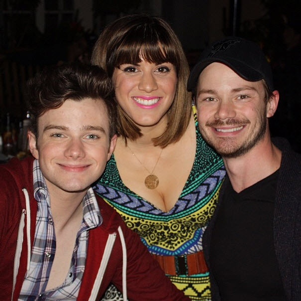 Chris Colfer and Boyfriend Will Sherrod Celebrate Friend's Birthday (PHOTO)