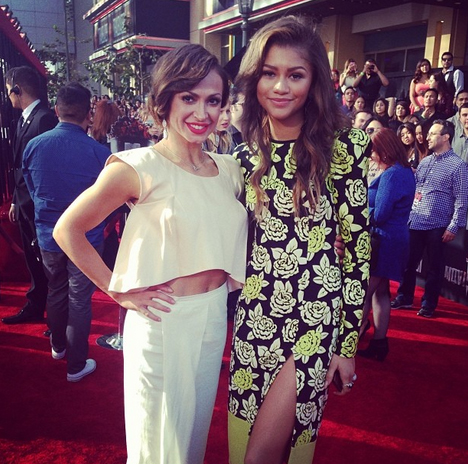 Karina Smirnoff Looks Glam With Zendaya at MTV Movie Awards (PHOTOS, VIDEO)