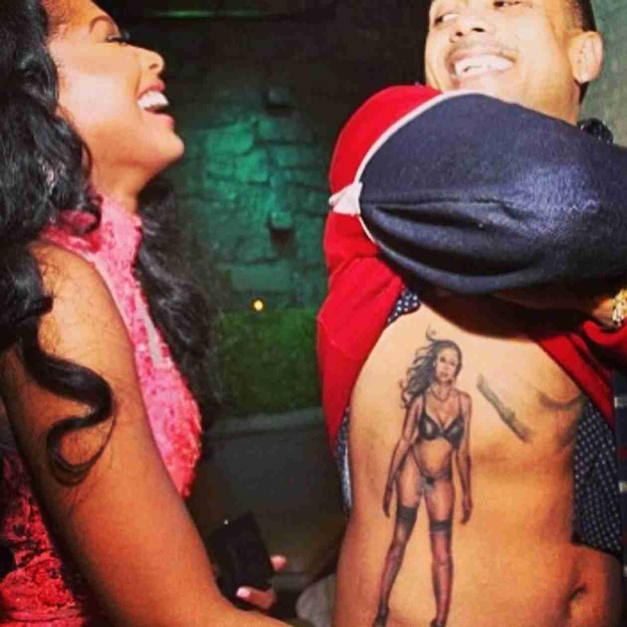 Benzino Tattoos Fiancée's Body Across His Side?! (PHOTOS)