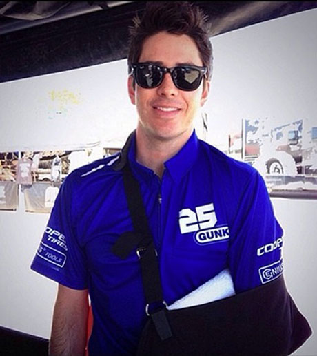 "Arie Luyendyk Jr. Cleared to Race After Injury, See His New Collarbone ""Armor"" (PHOTO)"