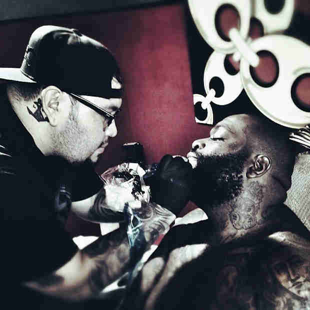 "Rick Ross Tattoos ""Rich Forever"" On His Chin — Love It or Hate It? (PHOTO)"