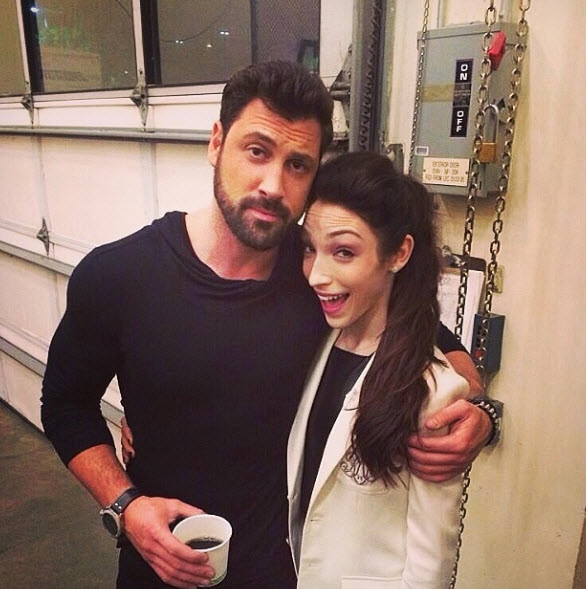 Maksim Chmerkovskiy and Meryl Davis Spotted Kissing Backstage — New Couple Alert! Report