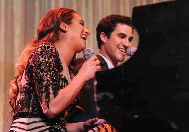 "Watch Lea Michele and Darren Criss Sing ""Somewhere Over the Rainbow"" (VIDEO)"