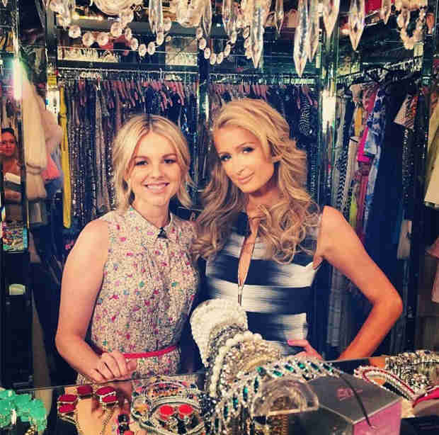 Ali Fedotowsky Hangs With Paris Hilton in Her Closet — But Why?