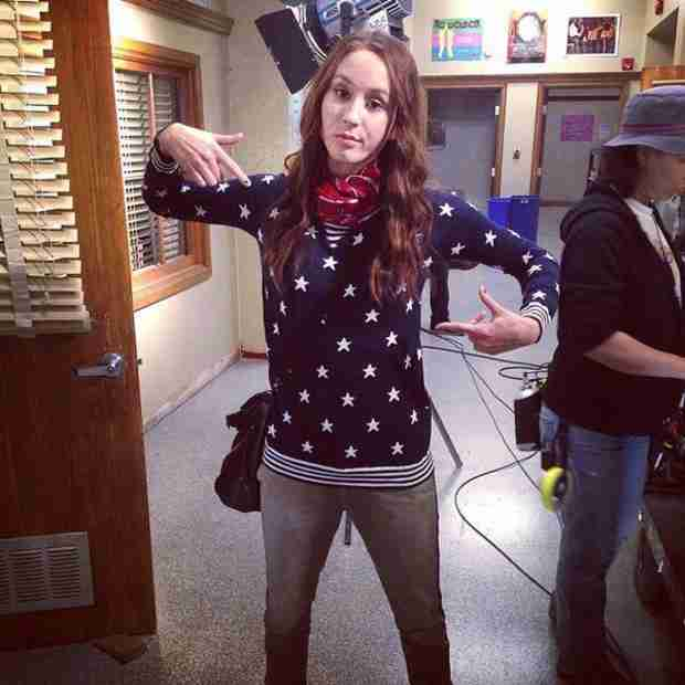 Pretty Little Liars 100th Episode: Spencer Goes Red, White, and Blue (PHOTO)