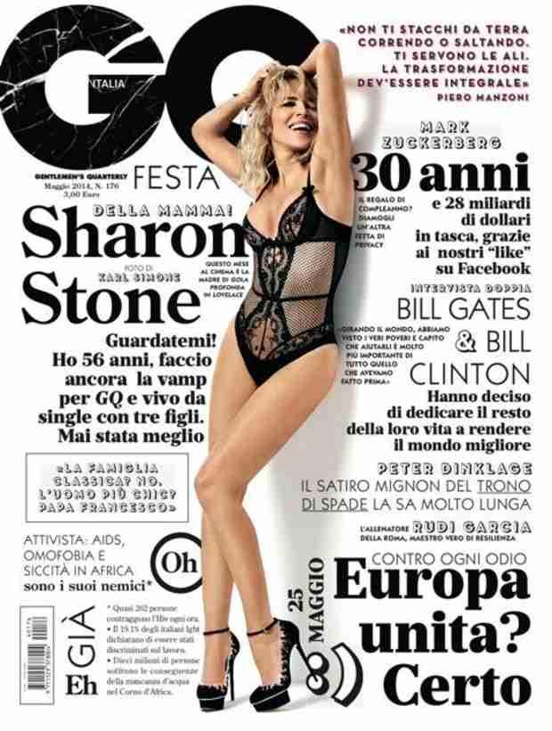 Sharon Stone, 56, Poses in Black Mesh Bodysuit on GQ Italia — Get It, Girl! (PHOTO)