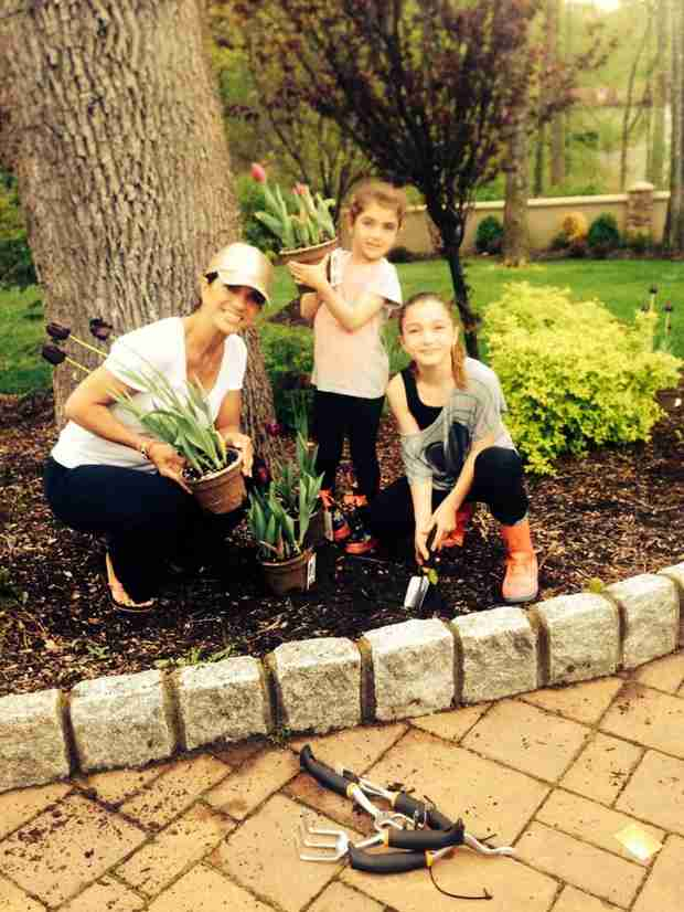 Teresa Giudice Spends Mother's Day Weekend Working on Garden With Her Daughters