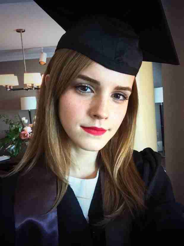 Emma Watson Graduates From Brown University — See Her Cap-and-Gown Selfie! (VIDEO)