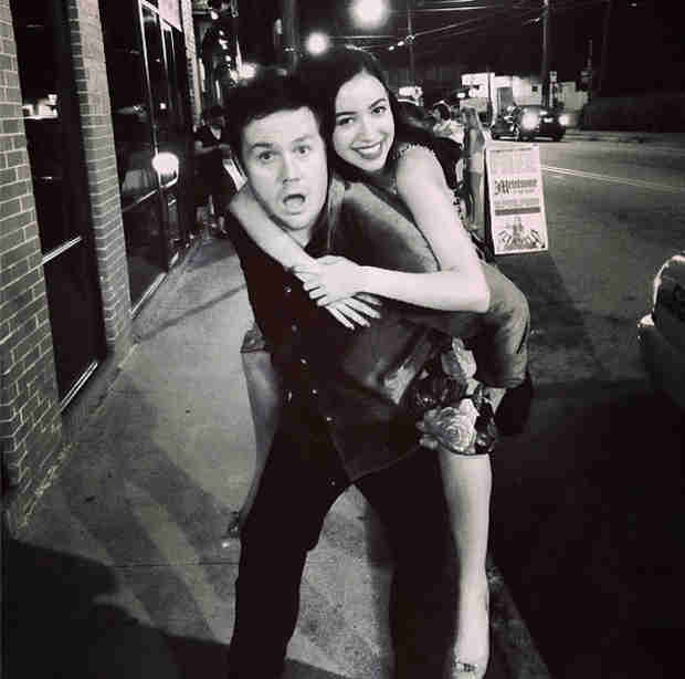 Josh McDermitt and Christian Serratos Pal Around  in Atlanta (PHOTO)