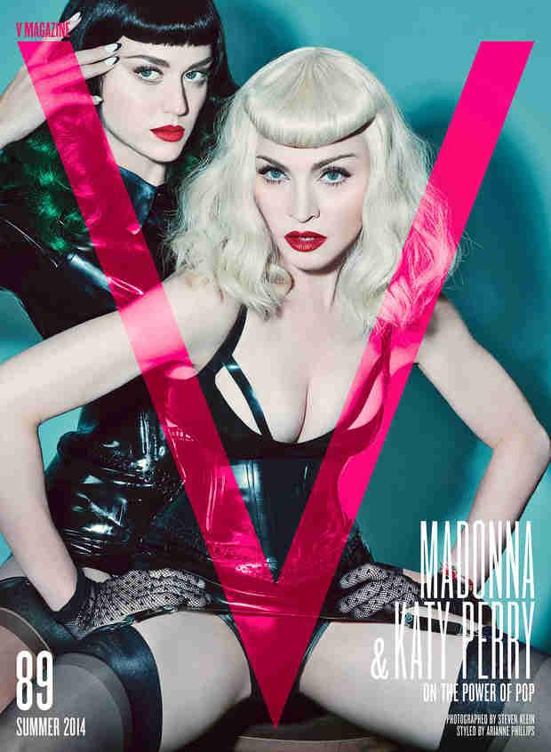 Katy Perry and Madonna Cover  V Magazine — See the Scandalous S&M Themed Shot! (PHOTO)