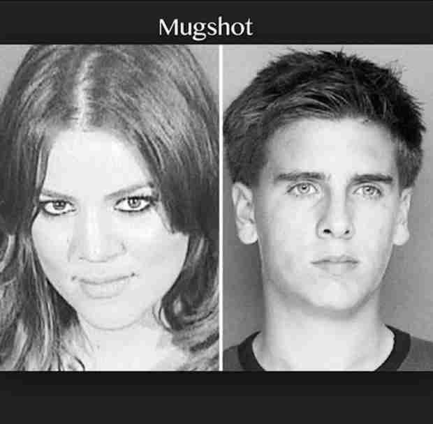 "Khloe Kardashian Posts Mugshots For Scott Disick's Birthday — ""My Partner in Crime"" (VIDEO)"